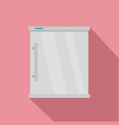 white refrigerator icon flat style vector image