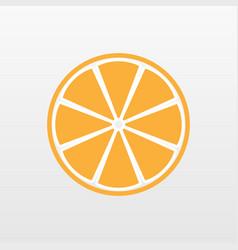 Yellow orange fruit icon isolated modern simple f vector
