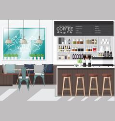 design your coffee shop vector image vector image