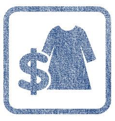 Dress price fabric textured icon vector