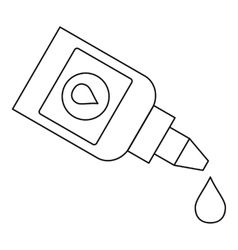 Eye drops bottle icon outline style vector image