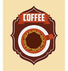 delicious coffee design vector image vector image