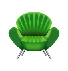 green armchair on white background vector image
