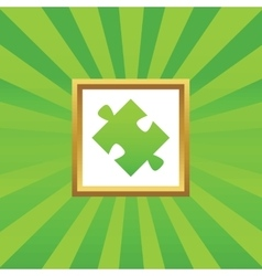 Puzzle picture icon vector image