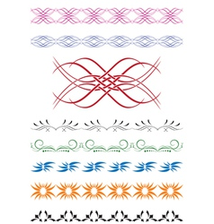 set of color decorative elements for design vector image vector image