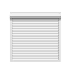 window with rolling shutters vector image vector image