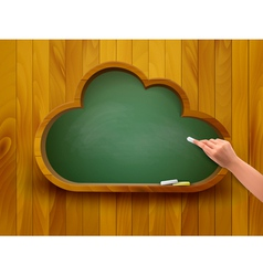 Chalkboard in a shape of a cloud E-learning vector image