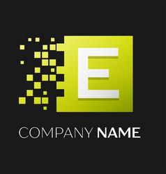 letter e logo symbol in the colorful square vector image vector image