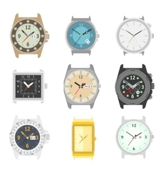 Set of watches Stylish accessory for men vector image