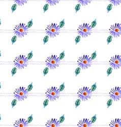 Watercolor violet daisy vector image