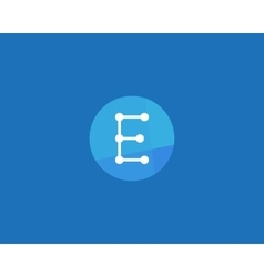 Abstract letter E logo design template Dot line vector image