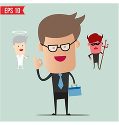 Business man select choice - - EPS10 vector image