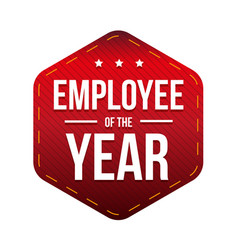employee of the year badge vector image