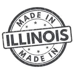 made in illinois sign or stamp vector image