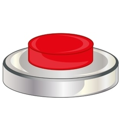 Red button on white vector image