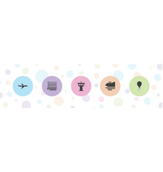 5 air icons vector