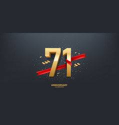 71st year anniversary background vector