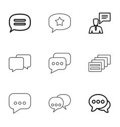 9 chatting icons vector image