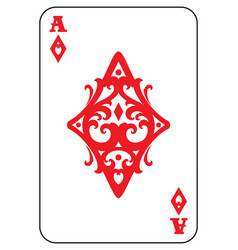 Ace of diamonds vector