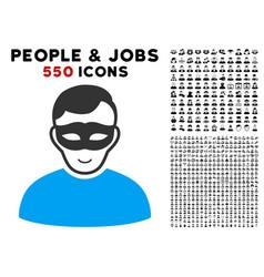 Anonymous person icon with bonus vector