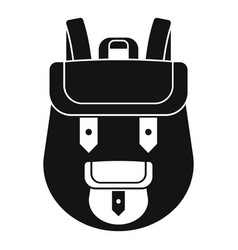 backpack icon simple style vector image