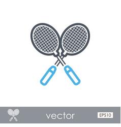 Badminton racket outline icon summer vacation vector