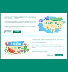 Big sale discount posters set vector
