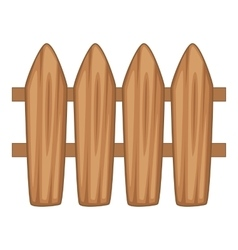 Brown wooden picket fence icon cartoon style vector