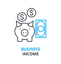 business income concept outline icon linear vector image