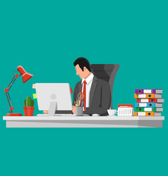 businessman at work vector image