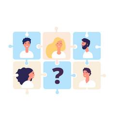 businessteam puzzle concept online recruitment vector image