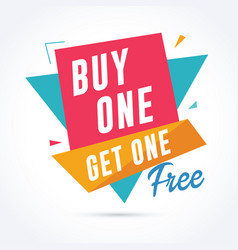 buy one get one free banner sale and promotion vector image