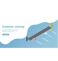 Buyers journey or customer journey for website vector