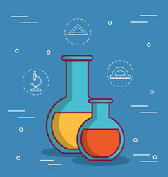 Chemical flask design vector