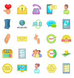 Client icons set cartoon style vector