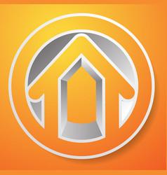 contour house building symbol icon or logo vector image