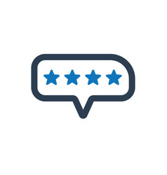 Customers rating icon vector