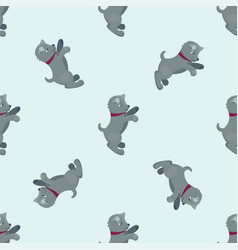 Cute dogs characters seamless vector
