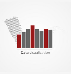 Data visualization concept vector