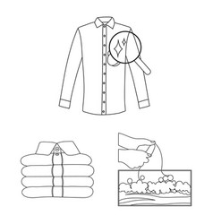 Design of laundry and clean icon set of vector