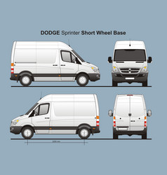 Dodge sprinter short wheel base cargo van vector