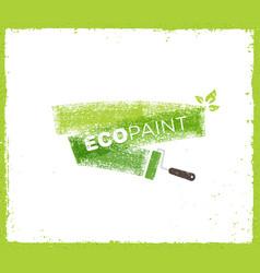 Eco paint grunge brush creative rough vector