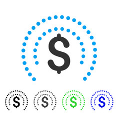 Financial sphere shield flat icon vector