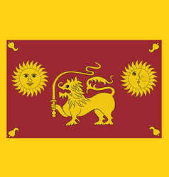 flag of sabaragamuwa province of sri lanka vector image