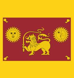Flag sabaragamuwa province sri lanka vector