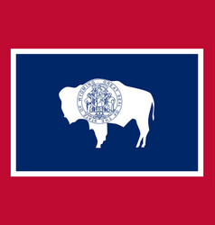 flag usa state wyoming vector image