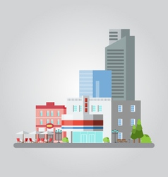 Flat design of colorful cityscape vector image
