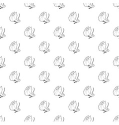 Frill necked lizard icon outline style vector