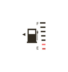 full fuel gauge icon on a black background vector image
