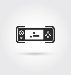 Gamepad template icon design element vector